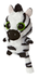 aurora world stripee zebra plush leading