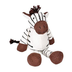 adventure planet plush zebra knitted