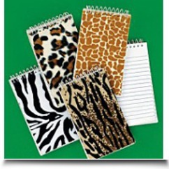 Dozen Plush Animal Print Spiral Notepads