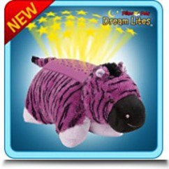 Dream Lites Zany Zebra Pillow Pet