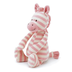 jellycat twibble pink zebra little gorgeous