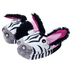 silly slippeez zebra plush x-small slippers