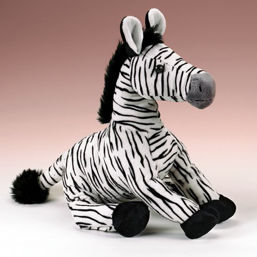 Zebra Stuffed Animal Plush Toy 14 H